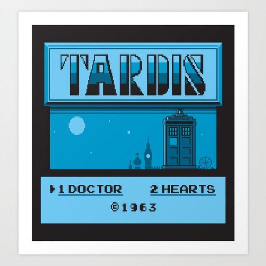 1 Doctor, 2 Hearts Art Print