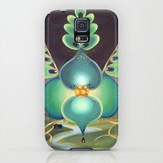 Green Flower Slim Case Galaxy S5