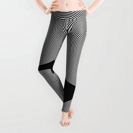 Hypnotic Circles optical illusion Leggings