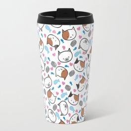 Moew eat fish and wet cans food Travel Mug