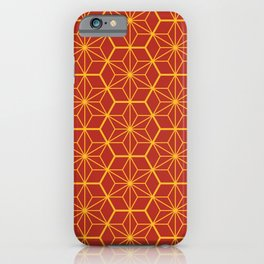 Traditional Japanese Pattern - red, orange iPhone Case