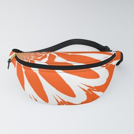 The Modern Flower Orange Fanny Pack