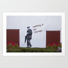A Gentleman goes walking; Camino to Santiago de Compostela Art Print