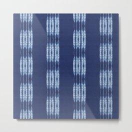 Shibori scratched Metal Print
