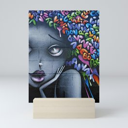 girl letters grafitti Mini Art Print