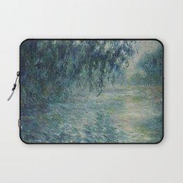 Morning on the Seine, Claude Monet Laptop Sleeve