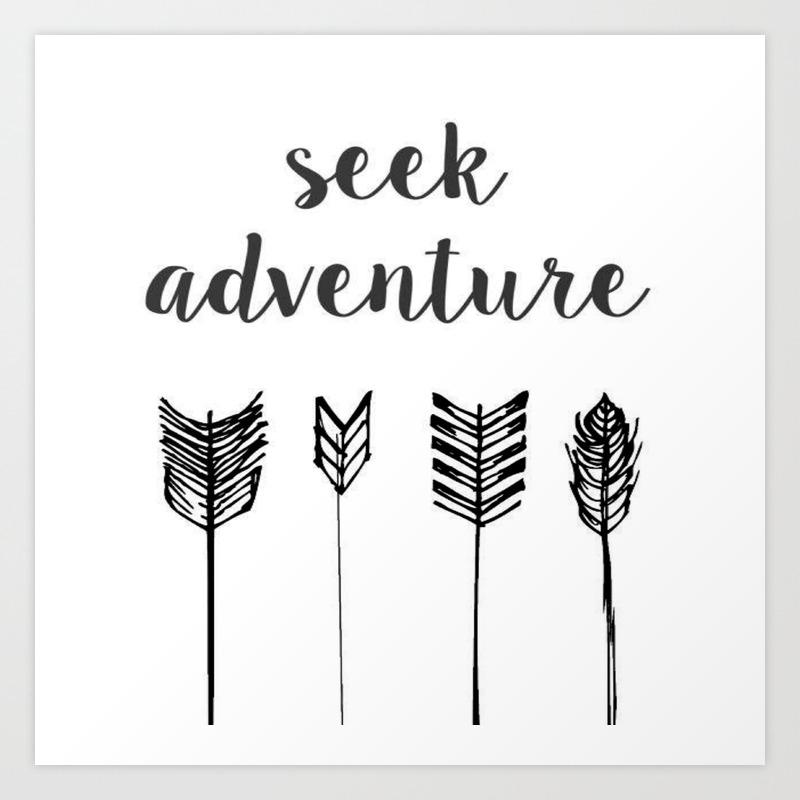 Seek Adventure Cotton Tote Bag