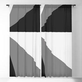 Retro Pop Art Beams - Black White Grey Blackout Curtain