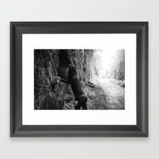writing on the wall Framed Art Print