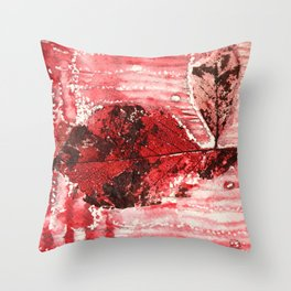 Bloody Leaf H2 Throw Pillow