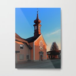 The cemetary church of Aigen I   architectural photography Metal Print