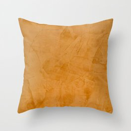 Dante Orange Stucco - Luxury - Rustic - Faux Finishes - Corbin Henry Venetian Plaster Throw Pillow