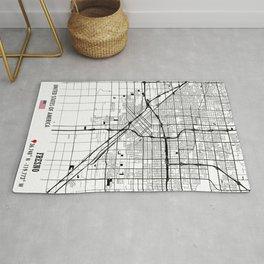 Fresno USA Road Map Art - Earth Tones Rug
