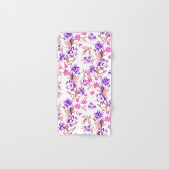 Garden Journal Purple Hand & Bath Towel