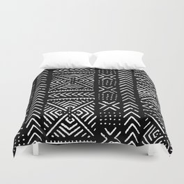 Line Mud Cloth // Black Duvet Cover