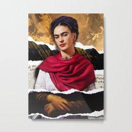 Frida Lisa Metal Print