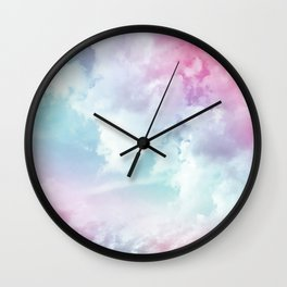 Cotton Candy Sky Wall Clock