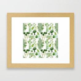 Green jungle pattern Framed Art Print