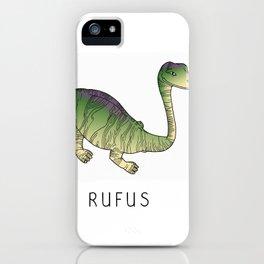 Rufus the dinosaur iPhone Case