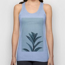 Teal Mint Plant Unisex Tank Top
