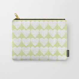 Heart pattern / yellow / luminary green Carry-All Pouch