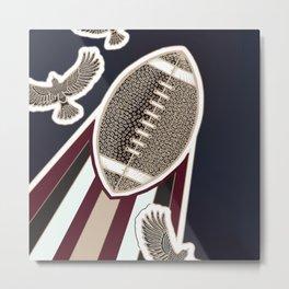 American football, gridiron ball Metal Print