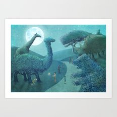 Summer Park - Night Art Print