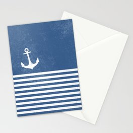 Anchor with stripes blue and white for the regatta Stationery Cards
