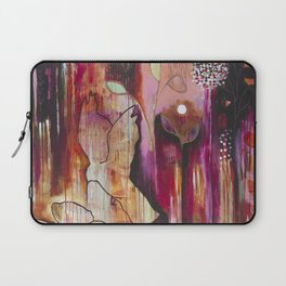 """""""Kiss"""" Original Painting by Flora Bowley Laptop Sleeve"""