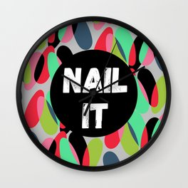 Nail It Wall Clock