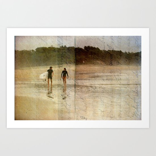 Surfer Love Art Print