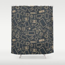 Video Games Pattern | Gaming Console Computer Play Shower Curtain