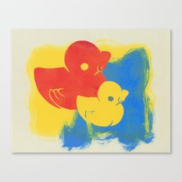 Rubber Duck Monoprint Canvas Print