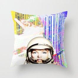astronaut norma jeane Throw Pillow