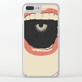 Silence my dear... - erotic submissive, gagged slave girl, ball gag, sexy red lips Clear iPhone Case