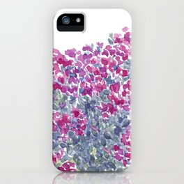 Garden Flowers Watercolor  iPhone Case