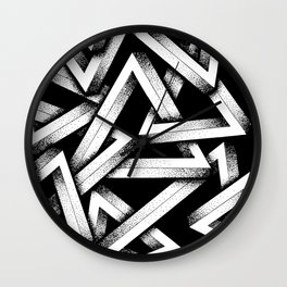 Impossible Penrose Triangles Wall Clock