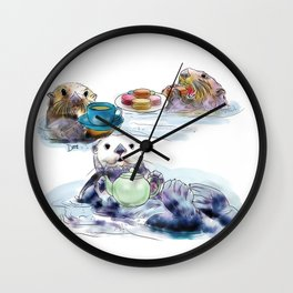 The Otter's Tea Wall Clock