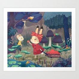 I Love You Bunny Art Print