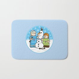 Want to Build a Snowman? Bath Mat