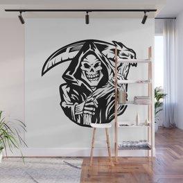 grim reaper black an white Wall Mural