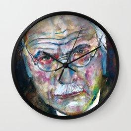 CARL JUNG - watercolor portrait.3 Wall Clock