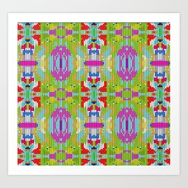 Abstract buterfly Art Print