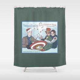 Superheroic Seasons Greetings (Chestnuts Roasting) Shower Curtain