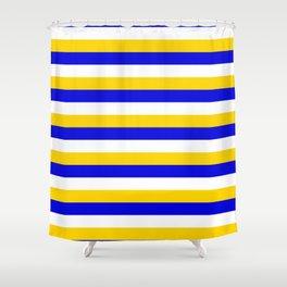 Bosnia Herzegovina Uruguay flag stripes Shower Curtain