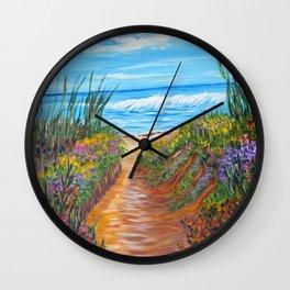 Ocean Beach Painting, Impressionism Wall Art, Beach House Home Decor Wall Clock