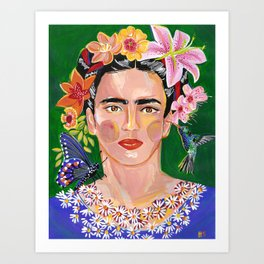 Queen Mother of Flowers - Frida collection - Art Print