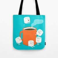 drink Tote Bags featuring Cannonball by Picomodi