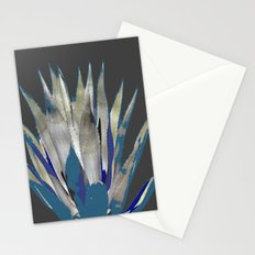 BLUE-GREY AGAVE DESERT CACTUS Stationery Cards