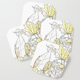 Autumn Leaves Watercolor Coaster